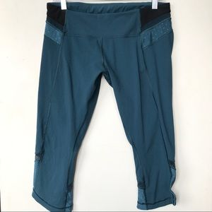 LULULEMON teal dot pants leggings 10